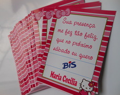 Cart�o de agradecimento Bis Hello Kitty