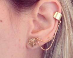 Ear Cuff Patinha Dourado