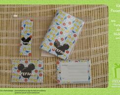 Kit Passaporte-Turma do Mickey (azul)