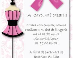 Convite Digital para Ch� de Lingerie