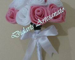 Mini Buqu� artificial - Flores de feltro