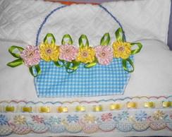 toalhas bordadas com fitas de cetim