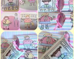 Caixa travesseiro bonecas