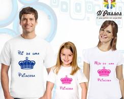 Kit 3 camisetas- Princesa