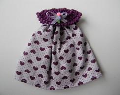 Lembrancinha vestido cora��o lil�s