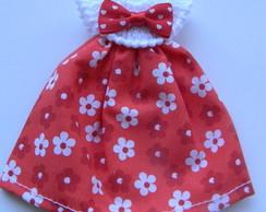 Lembrancinha vestido flor vermelha