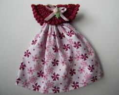 Lembrancinha vestido flor lil�s e rosa