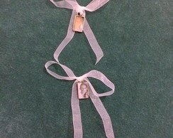 Mini medalha retangular vintage