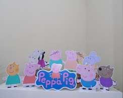 Kit Display Enfeite Peppa Pig e Amigos
