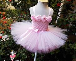 Vestido Tutu Bailarina Rosa