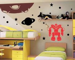Adesivo Decorativo Planetas e Robo