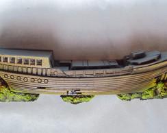 Barco afundado pintado