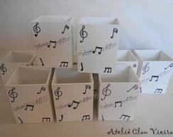 Lembran�a Notas Musicais Preta e Branca