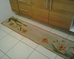 tapete cozinha em juta pintado