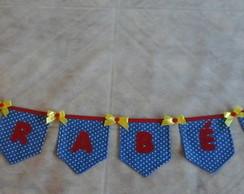 Bandeirinha com letra