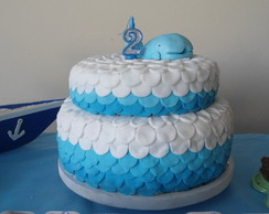 bolo artistico fundo do mar