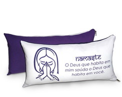Almofada Mensagem Namaste 40x20