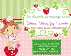 Convite Moranguinho Baby