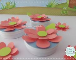 Latinha Acr�lica Flor