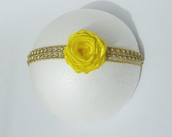 Faixa BLUSH luxo ROCOC� amarelo ouro