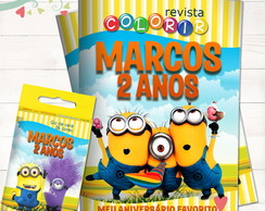 Kit Revista + Giz Minions