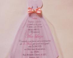 Convite vestido Princesa