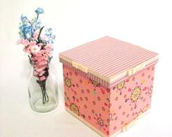 Caixa Rosa em tecido