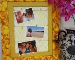 Quadro Porta-Fotos Yellow
