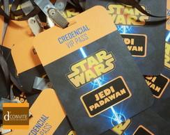 Convite de anivers�rio credencial stars