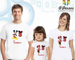 Kit 3 camisetas- Minnie Vermelha 01