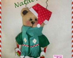 Ursinho Noel enfeite de porta Natalino