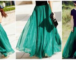Elegante Saia Longa em 8 cores
