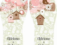 Chinelo Personalizado Love Birds Casinha