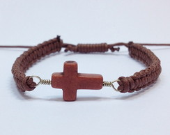 Pulseira shambala crucifixo
