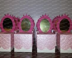 Caixa com espelho princesa
