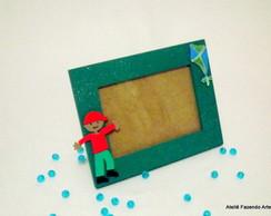 Porta Retrato Verde Menino