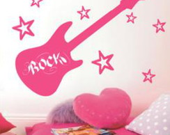 Adesivo Decorativo Musical Rock Girl