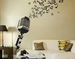 Adesivo Decorativo Microfone Musical