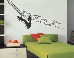 Adesivo Decorativo Musical Guitarra Rock