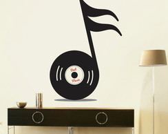 Adesivo Decorativo Musical Clave Disco