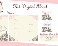 Kit Digital Casamento Arabescos Florais