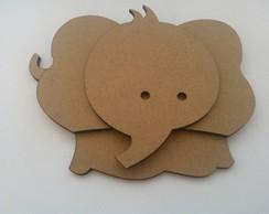 Aplique Elefante mdf