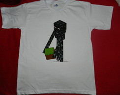 camiseta pintada ENDERMAN- minecraft