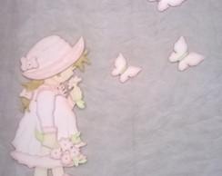 Painel Camponesa com borboletas