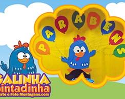 Galinha Pintadinha Plana Painel