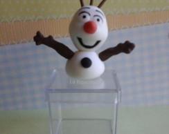 Lembrancinha caixa acr�lica Olaf biscuit