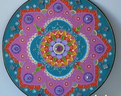 Mandala em Disco de Vinil-ref.18.13