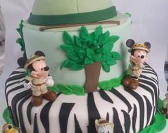 bolo decorado Mickey Safari