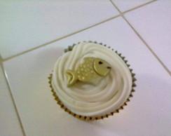 Cupcake - Tema Oxum (Peixinho Dourado)