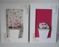 Conjunto De Quadro Flores Rosa